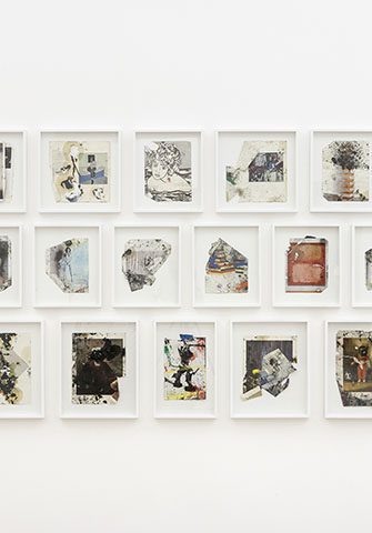 Zander Blom Modern Painting 3 (Floor Pieces), 2014. Mixed media, Dimensions variable, Set of 22