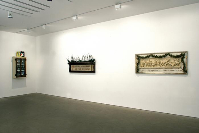 Matthew Benedict, Installation view of Cobweb Castle 2005, Photograph,
