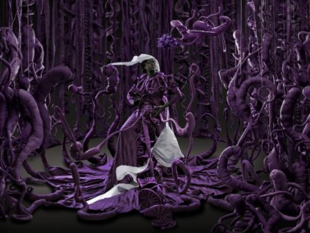 Mary Sibande, A Terrible Beauty is Born, 2013. Digital pigment print, 110 x 321.5 cm © Mary Sibande, courtesy of the artist and Gallery MOMO