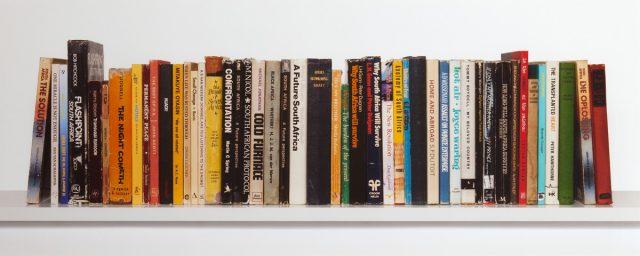 Candice Breitz, Ex Libris South Africa. Cibachrome photograph, 24 x 60 cm