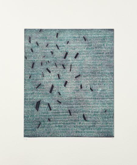 ChloëReid, rules. Etching on cotton paper, 39 x 33 cm