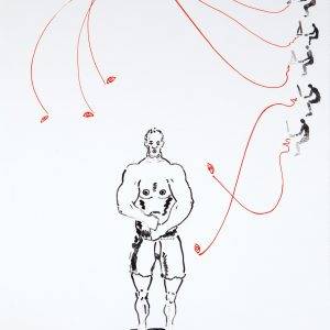 Clive van den Berg, Cyber Erotics, 2009. A two colour lithographic print on BFK Rives, 66 x 52 cm