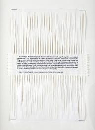Dan Halter, On Exactitude in Science. Woven archival prints on Ivory Enigma paper, 28 x 19 cm