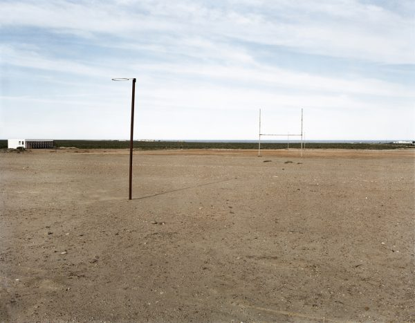 David Goldblatt, The sports field at Hondeklipbaai, 14 September 2003. Pigment inks on archival cotton rag paper, 42 x 51.5 cm