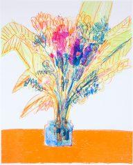 Georgina Gratrix, Flowers for I.G. Silkscreen on Zerkall Intaglio 250gsm, 50.5 x 65.5 cm