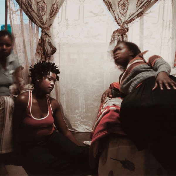 Guy Tillim, Tshililo (right) and her friends share a one-roomed apartment in Cape Agulhas, Esselen Street, Hillbrow. Pigment inks on archival cotton rag paper, 42 x 59.4 cm