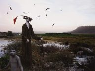 Jane Alexander, Harbinger in correctional uniform, lost marsh. Pigment inks on archival cotton rag paper, 45.5 x 56 cm