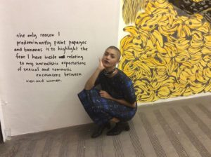 Visit my Show titled The Only Reason I Predominantly Paint Papayas and Bananas is to Highlight the Fear I have Inside Relating to my Unrealistic Expectations of Sexual and Romantic Encounters Between Men and Women until 11 April 2015.