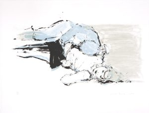 Lisa Brice, Untitled, 2007. A three colour lithographic print on Arches paper, 66 x 50.5 cm