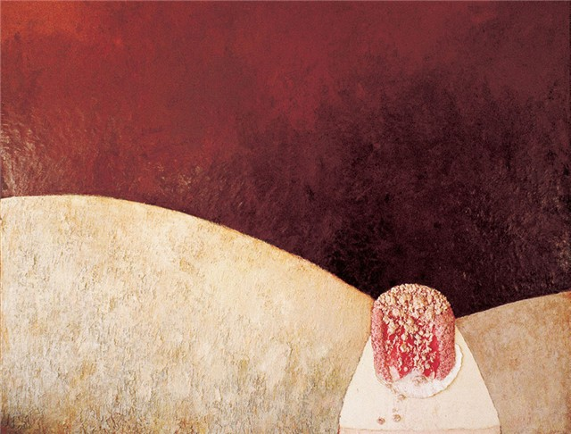 Penny Siopis Plum Cream, 1982. Oil on canvas, 159.5 x 201.5 cm