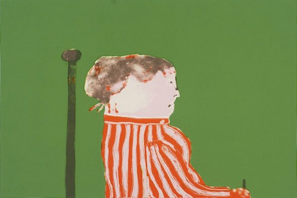 Robert Hodgins, Miss Priss. Five-colour lithograph printed on BFK Rives paper, 57.5 x 76.5 cm