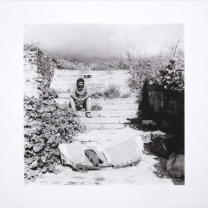 Sue Williamson, Amien Hendricks at the seven steps, District Six, 1981. Pigment inks on archival cotton paper, 50 x 67.5 cm
