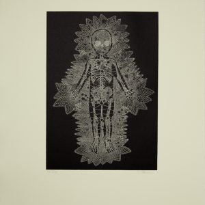 Walter Oltmann, Lace. Etching on Hahnemuhle paper, 78.5 x 53.5 cm