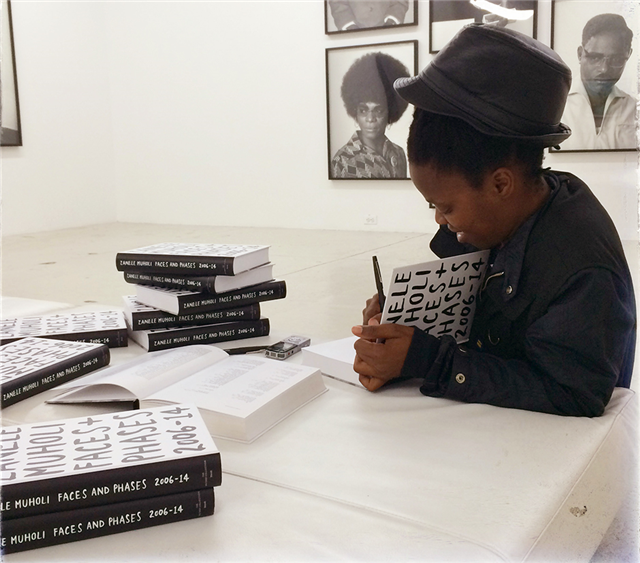 Zanele Muholi Muholi autographing Faces and Phases