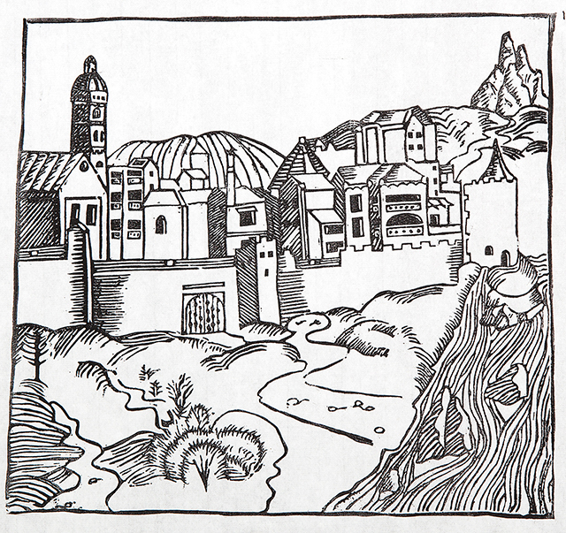 Chad Rossouw, Bougain Villas 2014, Woodcut on rice paper, 30 x 30 cm