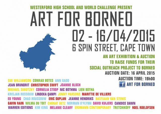 Westerford High School, Art For Borneo, 2015. An Art Exhibition and Auction