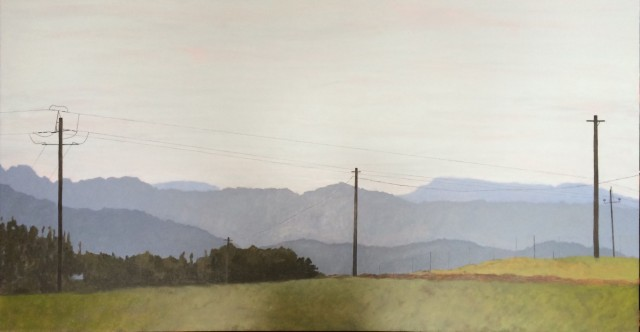 Thomas Cartwright  Riebeek- Wes  Oil on gesso panel  1350mm x 700 mm