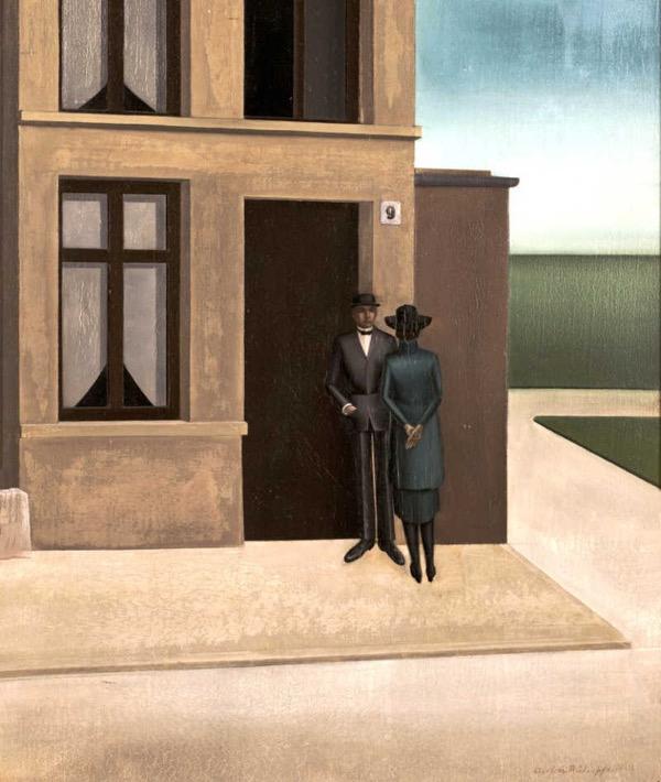 Anton Räderscheidt, <i>House No. 9</i>, 1921. Oil on wood, 65 x 55 cm