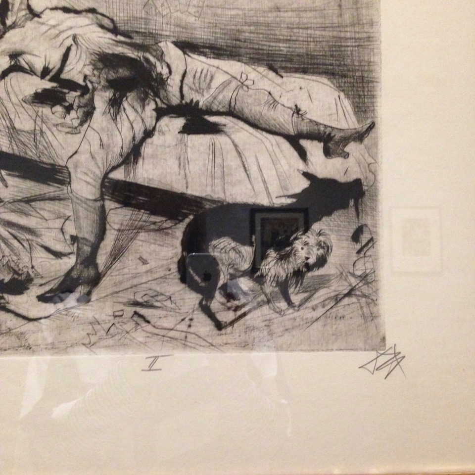 Otto Dix, Sex Murder from the series Death and Resurrection,1922. Etching, 27,6 x 34,6 cm.