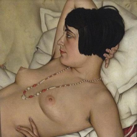 Christian Schad, <i>Half Nude</i>, 1929. Oil on canvas, 55,5 x 53,5 cm
