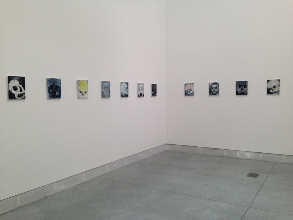 Marlene Dumas, Skulls (2013-2015) a Series of 36 small paintings of the same size, all oil on canvas