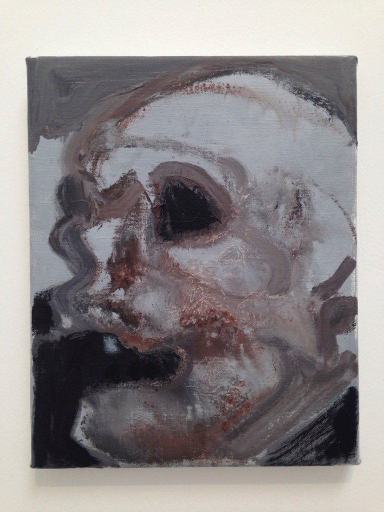 Marlene Dumas, Skulls (2013-2015) Oil on Canvas (detail)