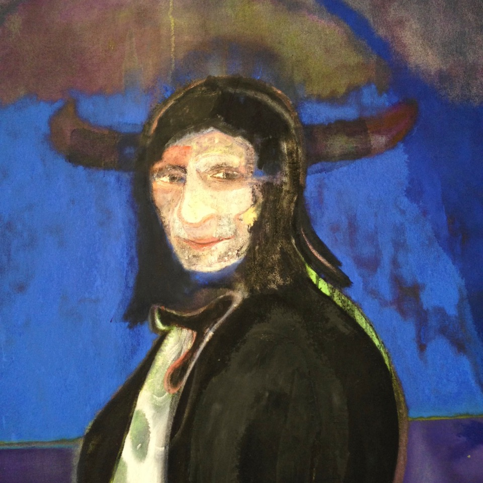 Peter Doig Horse and Rider (Detail) (2014)   Oil and distemper on canvas  240 x 360 cm