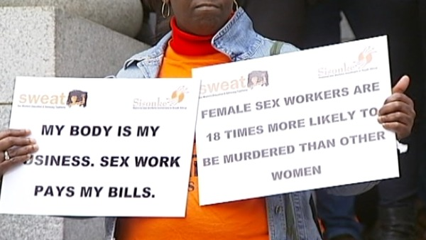 Sex Workers Protest Outside Mthethwa Trial
