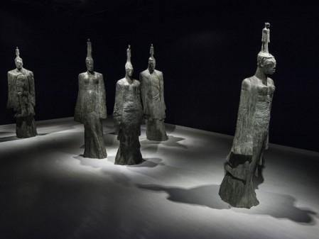 Deborah Bell, Return of The Gods: The Ancient Ones I–V,2013 - 2015. Bronze, edition of 6. installation size variable. Installation sound by Philip Miller