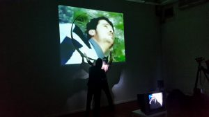 William Scarbrough, <i>Weight of the World</i>, 2015. Performance: Michaelis Galleries, July 7.