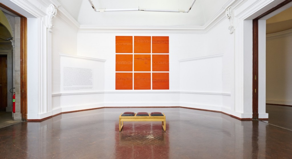 Turiya Magadlela, 'Kaffersheet'. Installation view: Johannesburg Art Gallery