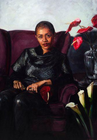 Alice Toich, Lady Skollie, 2015. Oil on canvas, 1500x1000mm