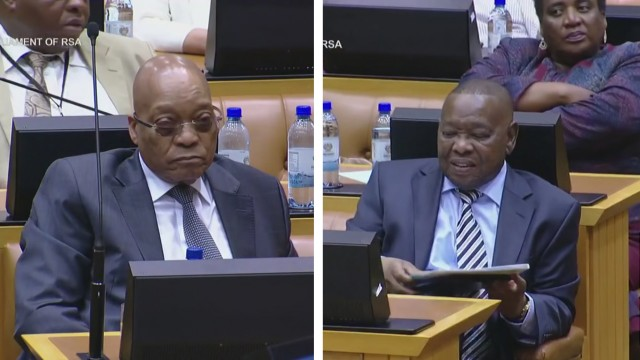 Zuma and Nzimande reaction