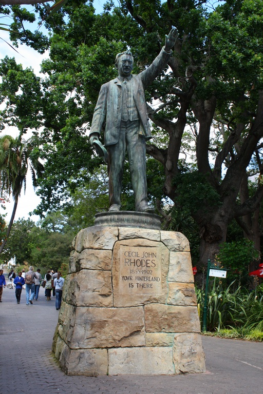 Cecil John Rhodes Statue in Company's Gardens Cape Town. Image: Wikimedia Commons