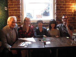 Dakota Johnson, Laurie Farrell, Me, RoseLee Goldberg, Storm Janse van Rensburg.