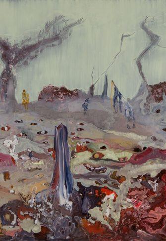 Lizza Littlewort, The Night Watch,2015. oil on board, 80x120cm