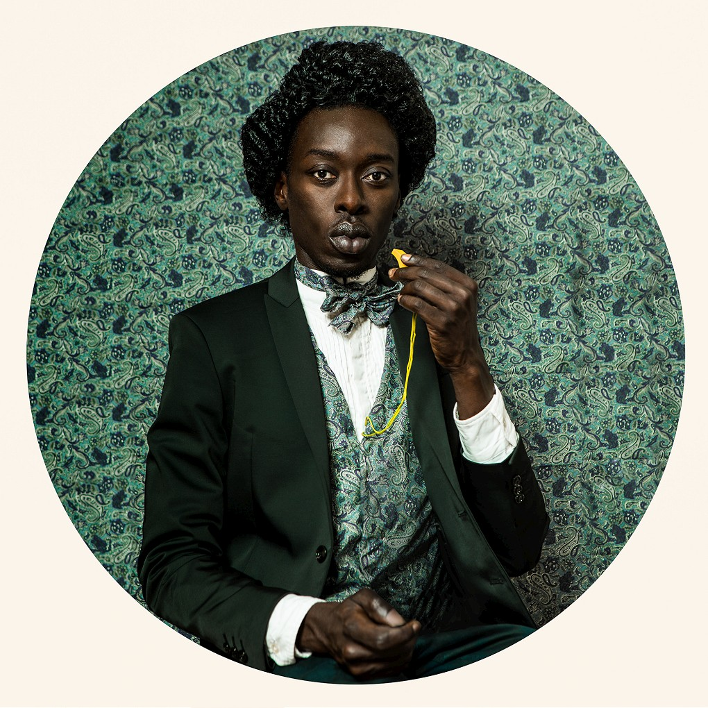 Omar Victor Diop, Frederick Douglass, 2015. Pigment inkjet print on Hahnemuhle paper, 90 x 90cm