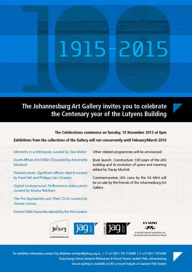 Johannesburg Art Gallery Centenary Celebrations
