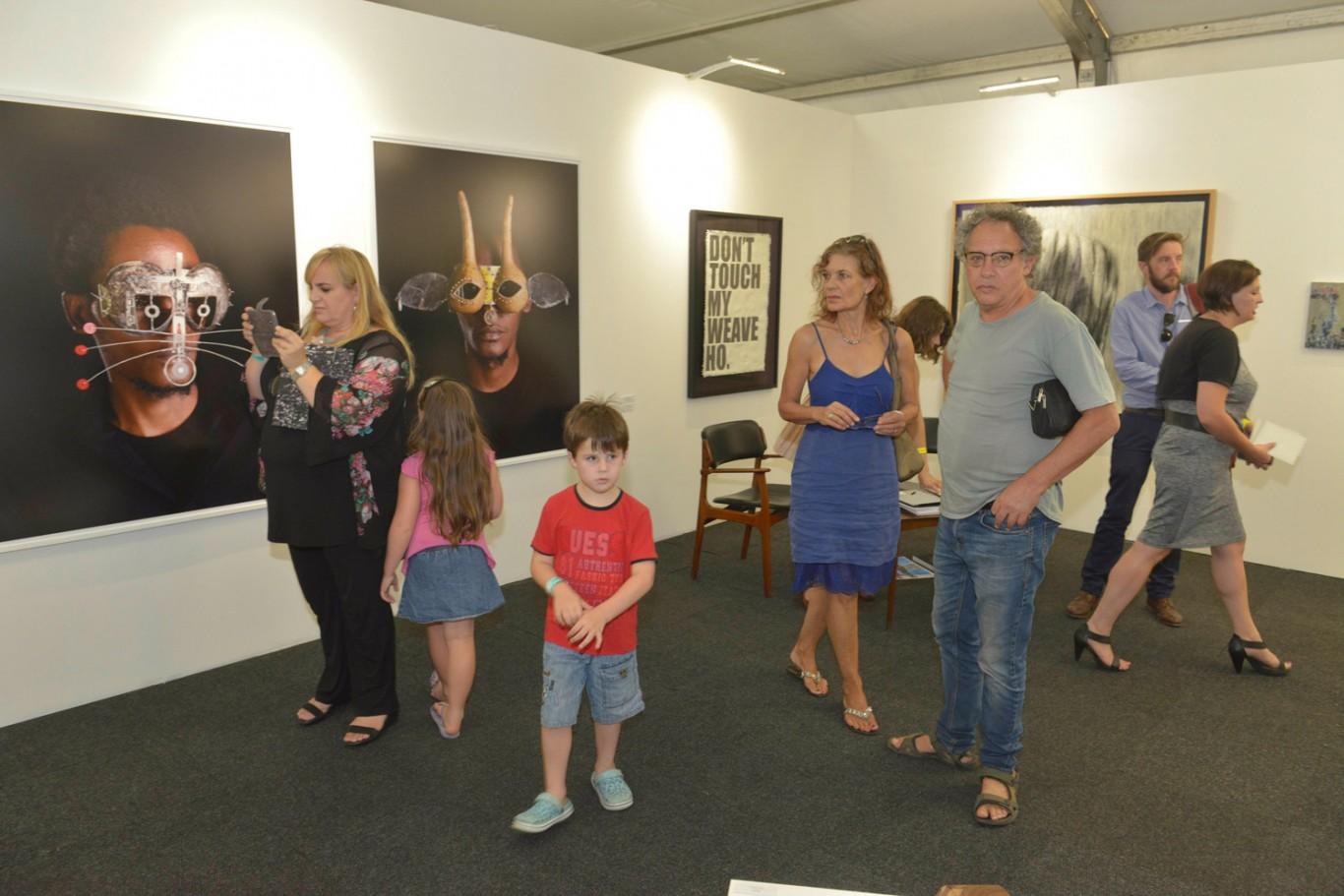 Installation view: Cape Town Art Fair 2015