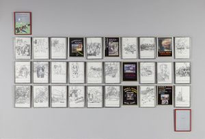Sue Williamson, <i>Colouring In</i>, 1992. Colour laser prints, decoupage frames, lead, black paint, silver foil, cellophane