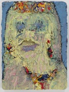 Georgina Gratrix Sandy Bay Woman, 2015. Oil on Board. 40.5 x 30.5 cm