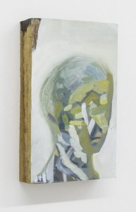 Jonah Sack, <i>Recruit (Head of a Boy)</i>, 2016. Oil on wood