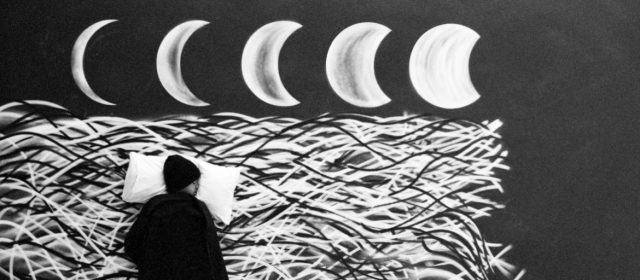Robin Rhode, The Moon is Asleep, detail, 2015, super 8mm film transferred to digital HD. Image courtesy of the artist and Lehmann Maupin, New York and Hong Kong.