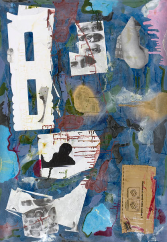 Moshekwa Langa Untitled, 2008/9. mixed media on paper 140x100cm.