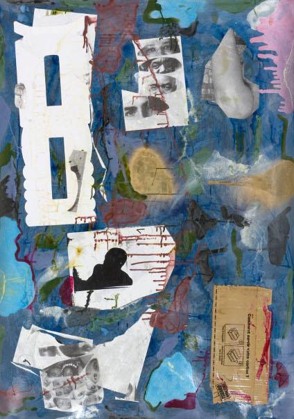 Moshekwa Langa Untitled, 2008/9. mixed media on paper 140x100cm.