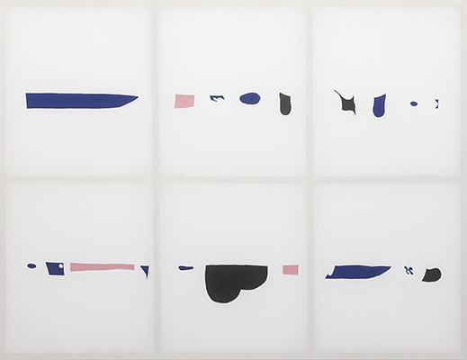 Gerda Scheepers Showing method, showing message, 2016. Wood, fabric. 182 x 240 cm