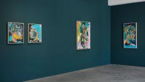 Olaf Hajek 'Big Green Room'. Installation View