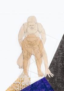 Pamela Phatsimo Sunstrum Panthea 5, 2016. Graphite, watercolour and carbon paper transfer on paper