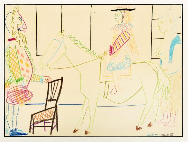 Pablo Picasso, Au Cirque,1954
