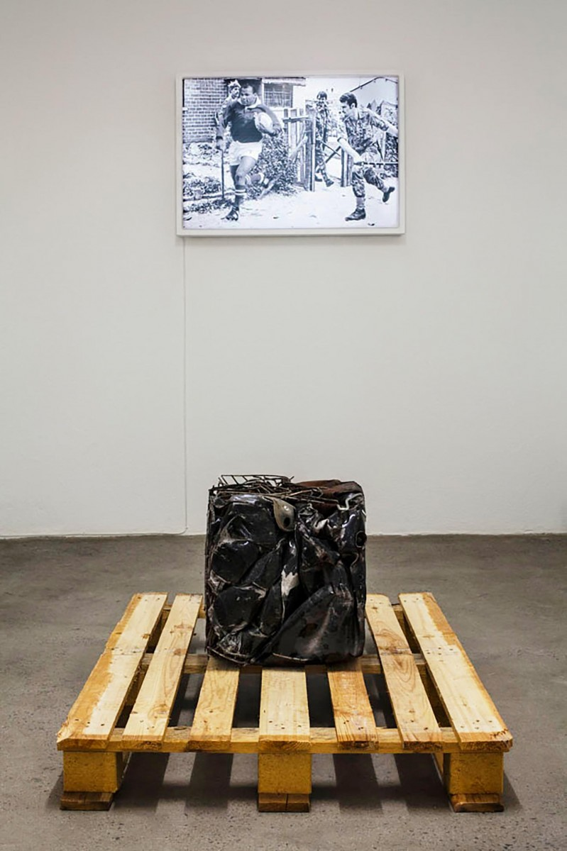 Rowan Smith and Xhanti Zwelendaba, 'Chamber of Mines' 2016. Installation view: WHATIFTHEWORLD, Cape Town.